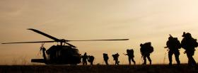 sunset helicopter soldiers war facebook cover