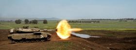 tank shooting fire war facebook cover