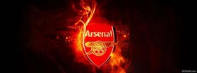Arsenal Fire Logo facebook cover