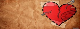 Hearted Love  facebook cover