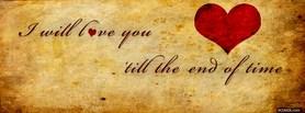 I Will Love You  facebook cover