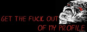 free Get Out Of My Profile facebook cover