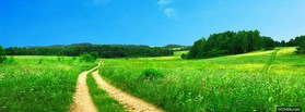 free Green Path  facebook cover