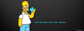 free Homer Simpson facebook cover