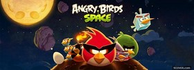 free Angry Birds Space facebook cover