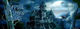 dark and cloudy house facebook cover