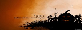 free October Darkness Halloween facebook cover