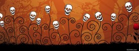 Halloween Skull Flowers facebook cover