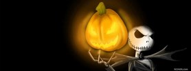 free Nightmare Skull Pumpkin facebook cover