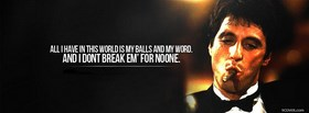 free Scarface Quote  facebook cover