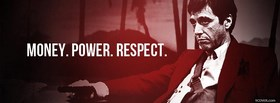 free Scarface Money Power Respect facebook cover