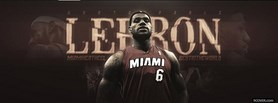 Lebron James Miami Nba facebook cover