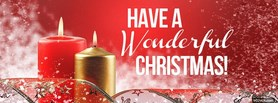 free Wonderful Christmas facebook cover