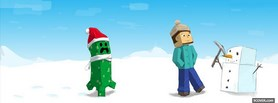 Minecraft Christmas facebook cover