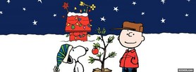 free Snoopy Christmas facebook cover