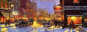 free Christmas City facebook cover