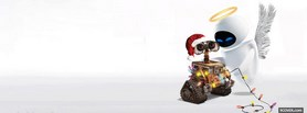 free Wall-E Christmas facebook cover