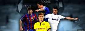 Messi Cr7 Torres facebook cover