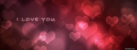 free I Love You With Hearts  facebook cover