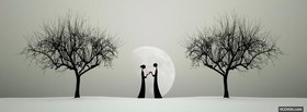 free Moon And Couple In Love  facebook cover