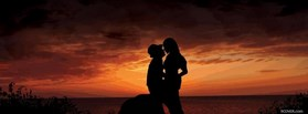 Beautiful Sunset Love Valentine Day facebook cover